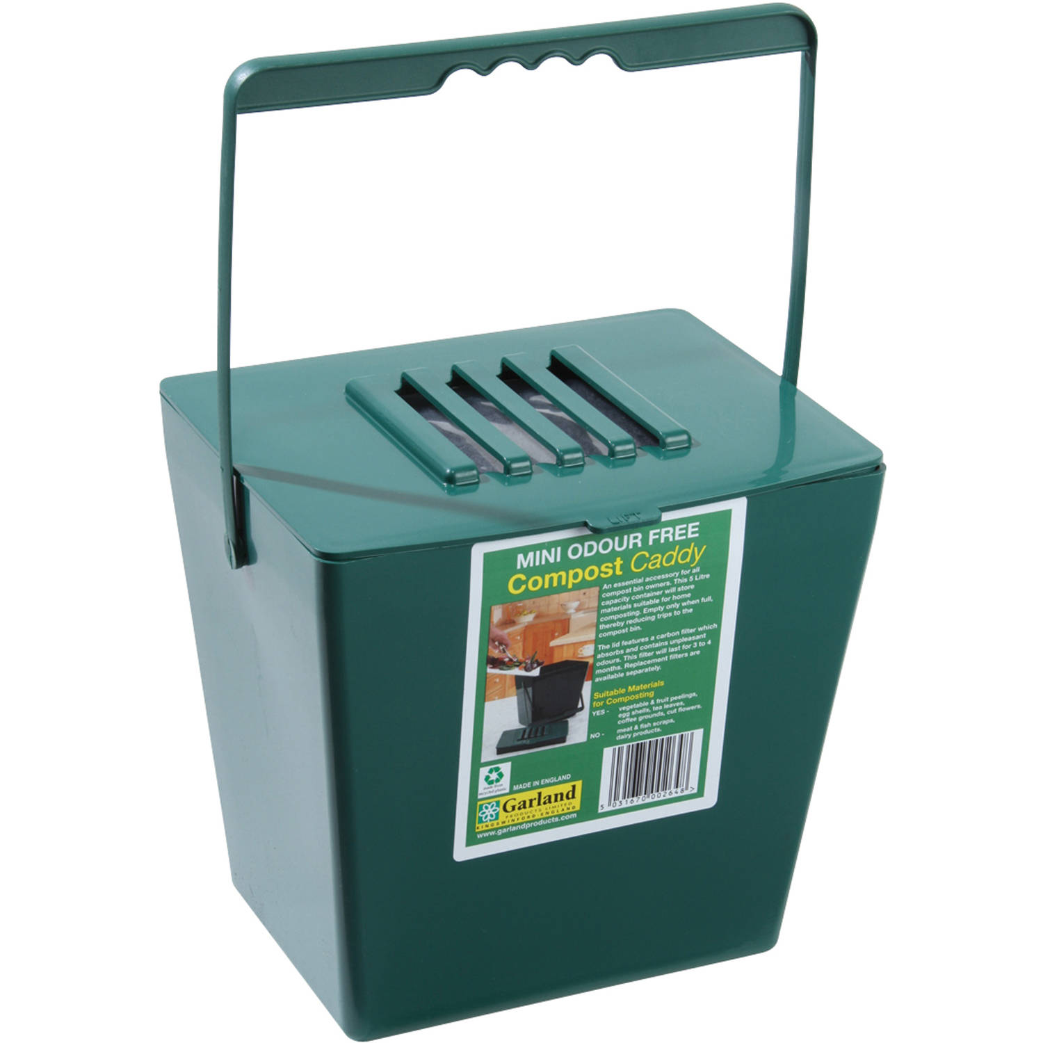 13gallon kitchen compost bin with 1 free carbon filter