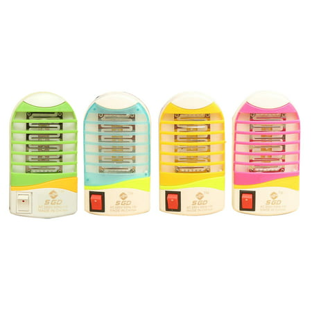 Mini Electronic LED Mosquito Killer Lamp Fly Pest Bug Insect Zapper Night Lamp Killer Non-toxic Eco-friendly Mosquito Trap Light US (Night Trap)