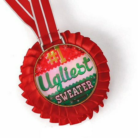 DEMDACO UGLY SWEATER HOLIDAY 1ST PLACE MEDAL - First Place Medal