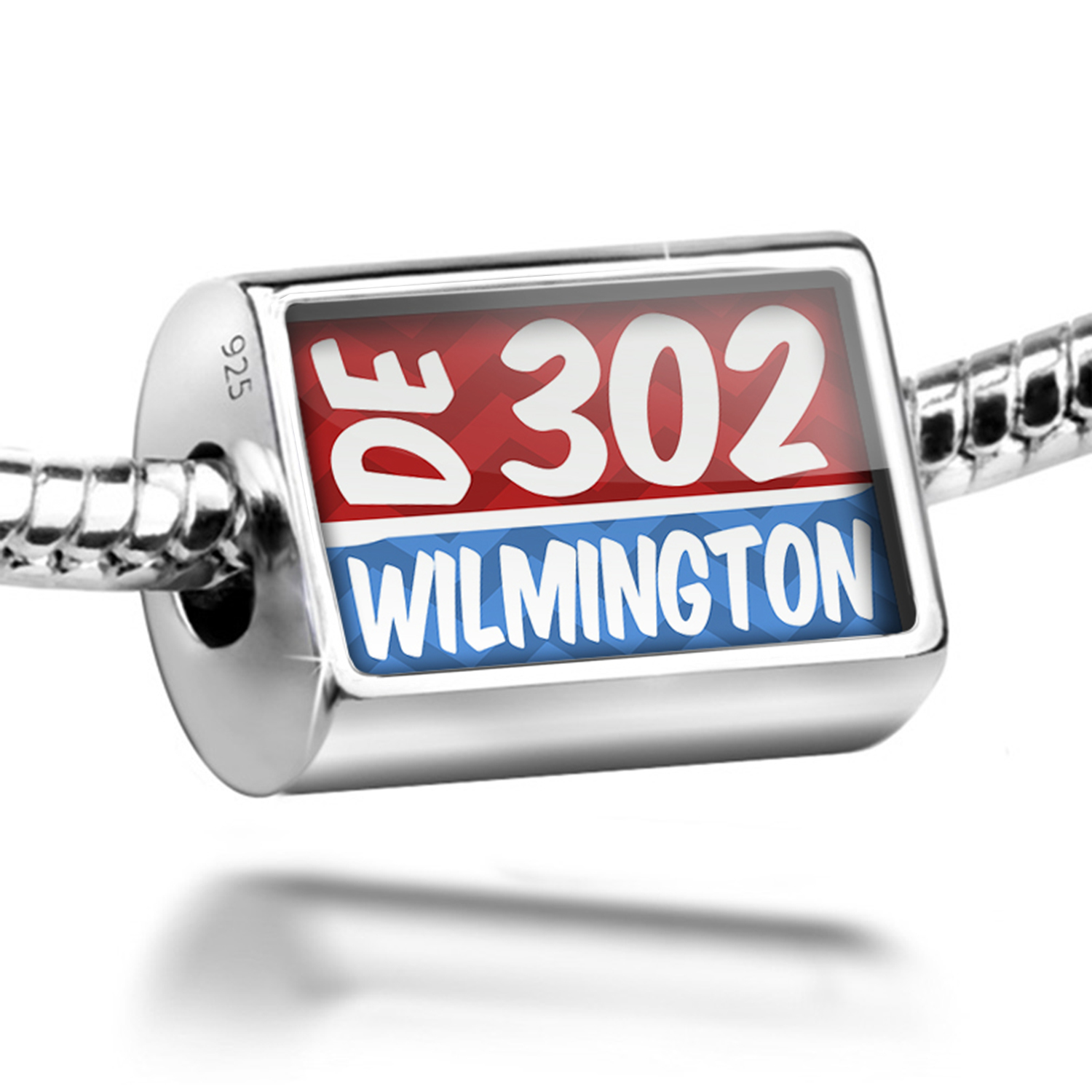 Neonblond Bead 302 Wilmington, DE red/blue Charm Fits All...
