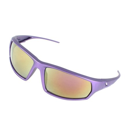 Unique Bargains Outdoor Full Rim Single Bridge Colored Lens Glasses Sunglasses (Coloured Lens Glasses)