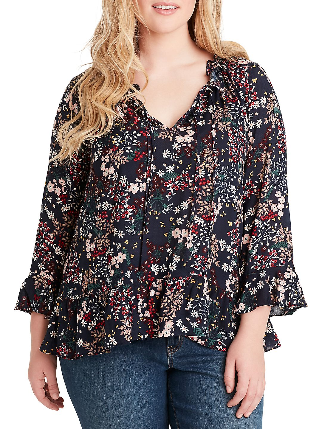 Plus Bronwyn Button Up Blouse