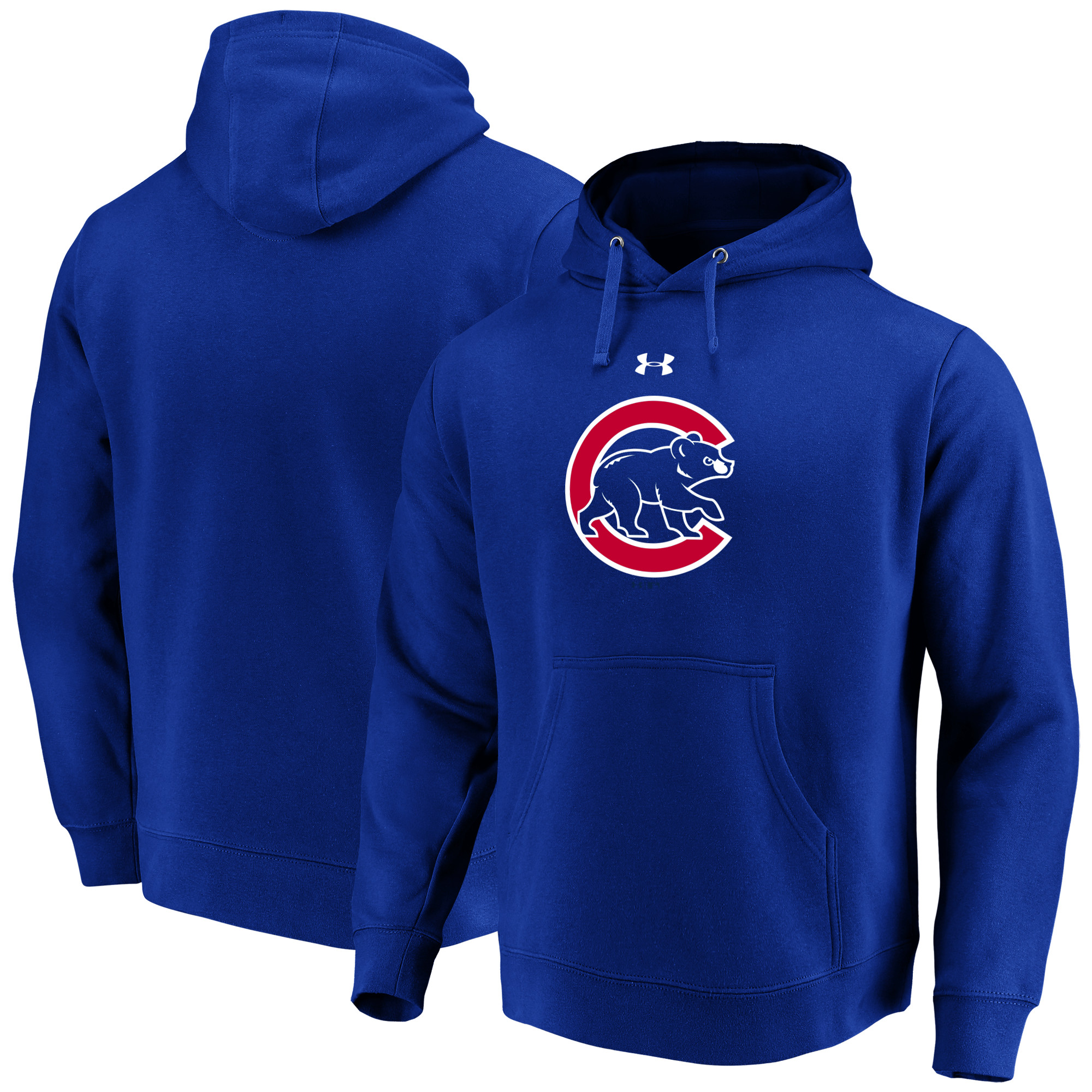 Chicago Cubs Under Armour Commitment Team Mark Performance Pullover Hoodie - Royal