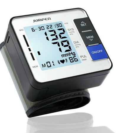 JUMPER JPD-900W Wrist Blood Pressure Monitor Watch Portable Digital Home Blood Pressure Machine Automatic Blood Pressure Cuff Clinically Accurate & Fast Reading, High
