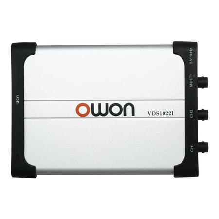 Analog Oscilloscope (Owon VDS1022I Dual-channel Oscilloscope PC Oscilloscopes Virtual USB Oscilloscope 25MHz Bandwidth 100M/s Sampling Rate )