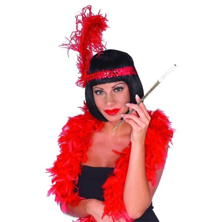 Flapper Costume Accessories (Female Flapper 20'S Long Silver Sparkle Cigarette Holder Costume)