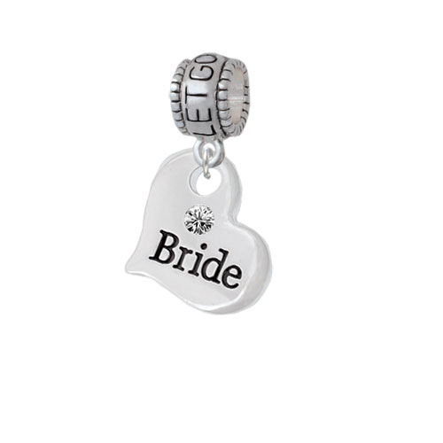 Large Bride Heart - Let Go Let God Charm Bead