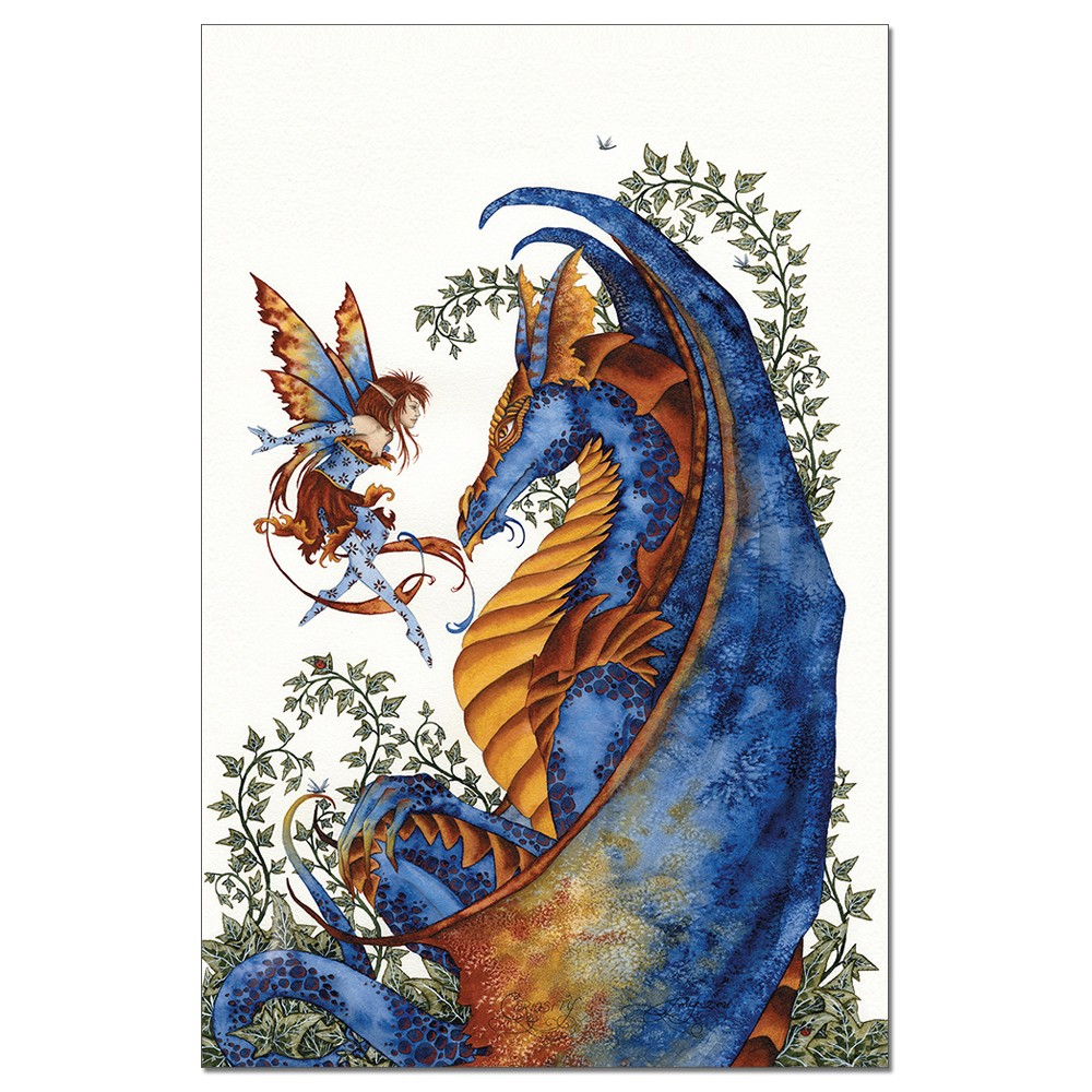 Tree-Free Greetings Curiosity Dragon & Fairy econotes Blank Note Cards-FS64544