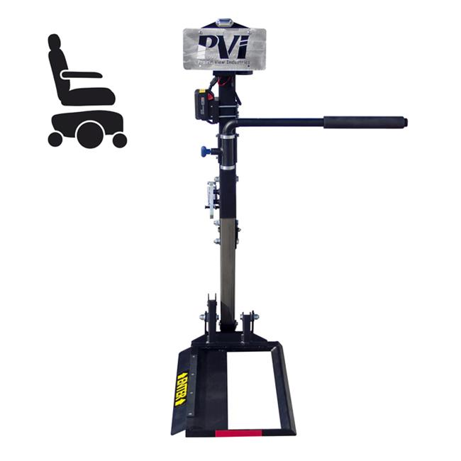 Prairie View Industries INDE3 Independence III - Compact Auto Power Wheelchair Lift, 16. 5 inch x 27 inch Platform