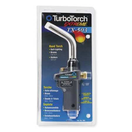 Torch,Hand,Swirl Flame TURBOTORCH 0386G1297