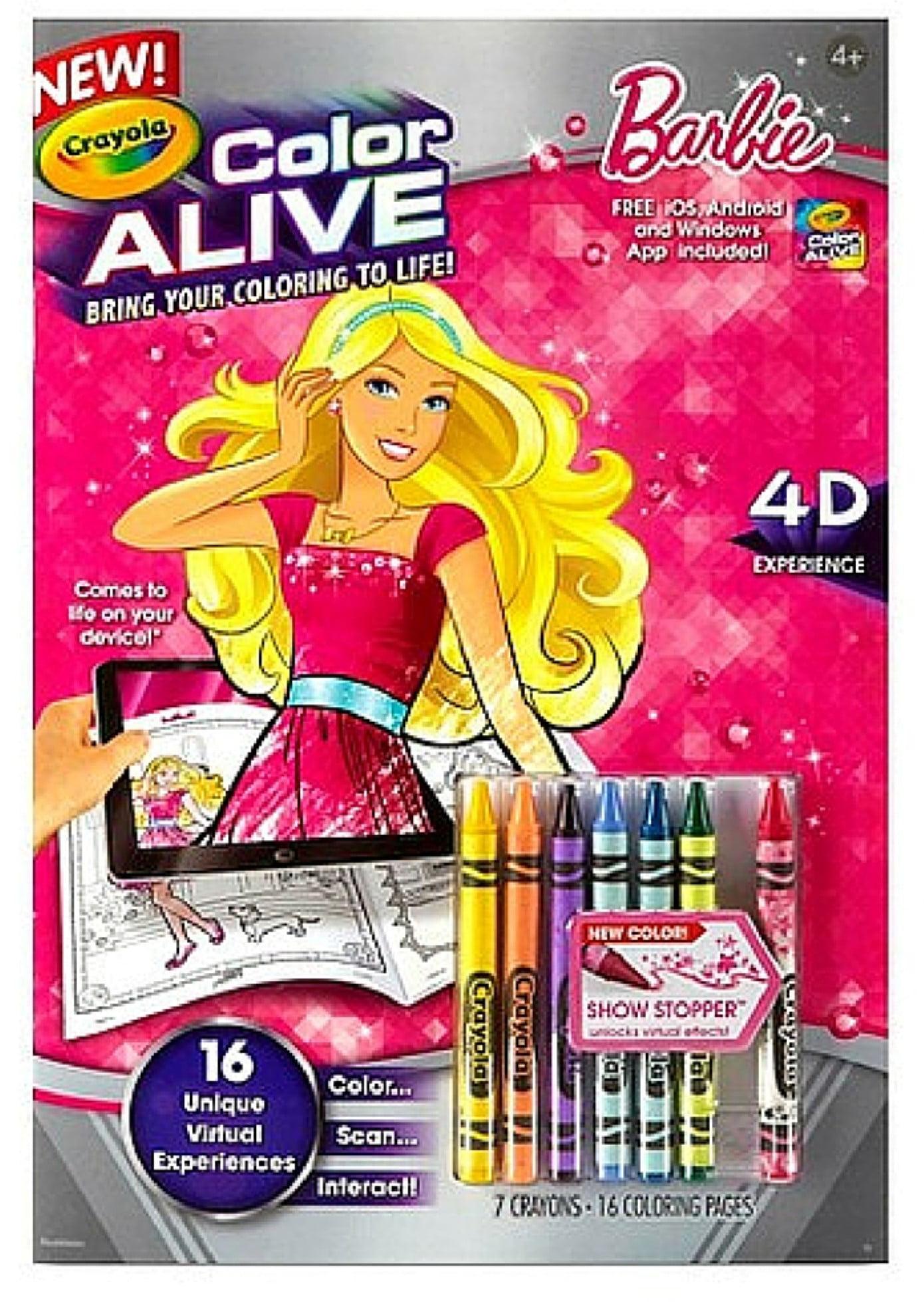 crayola color alive barbie 1 ea walmartcom