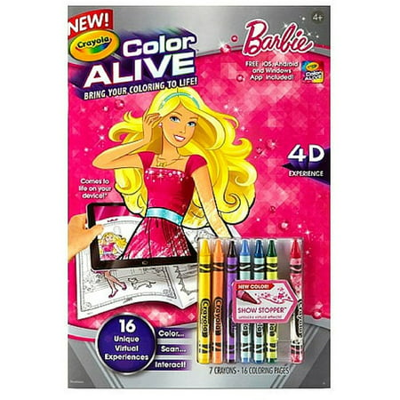 Crayola Color Alive Barbie Walmartcom - Crayola-color-alive-barbie