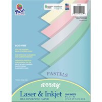 Array® Multi-Purpose Paper, Pastel Colors - 100 Sheets per pack, 3 packs