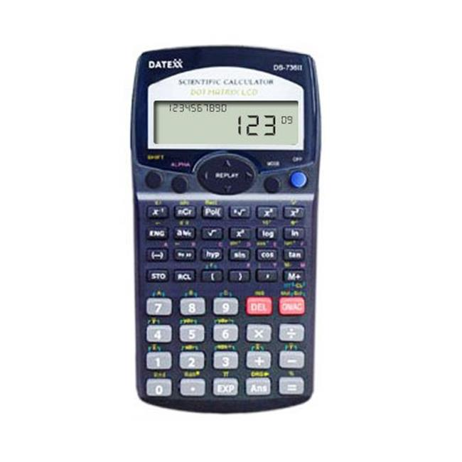 Datexx 2 Line Scientific Calculator with Fraction and Equation