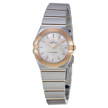 OMEGA Women's Constellation 24mm Two Tone Steel Bracelet Steel Case Quartz Watch 123.20.24.60.05.001