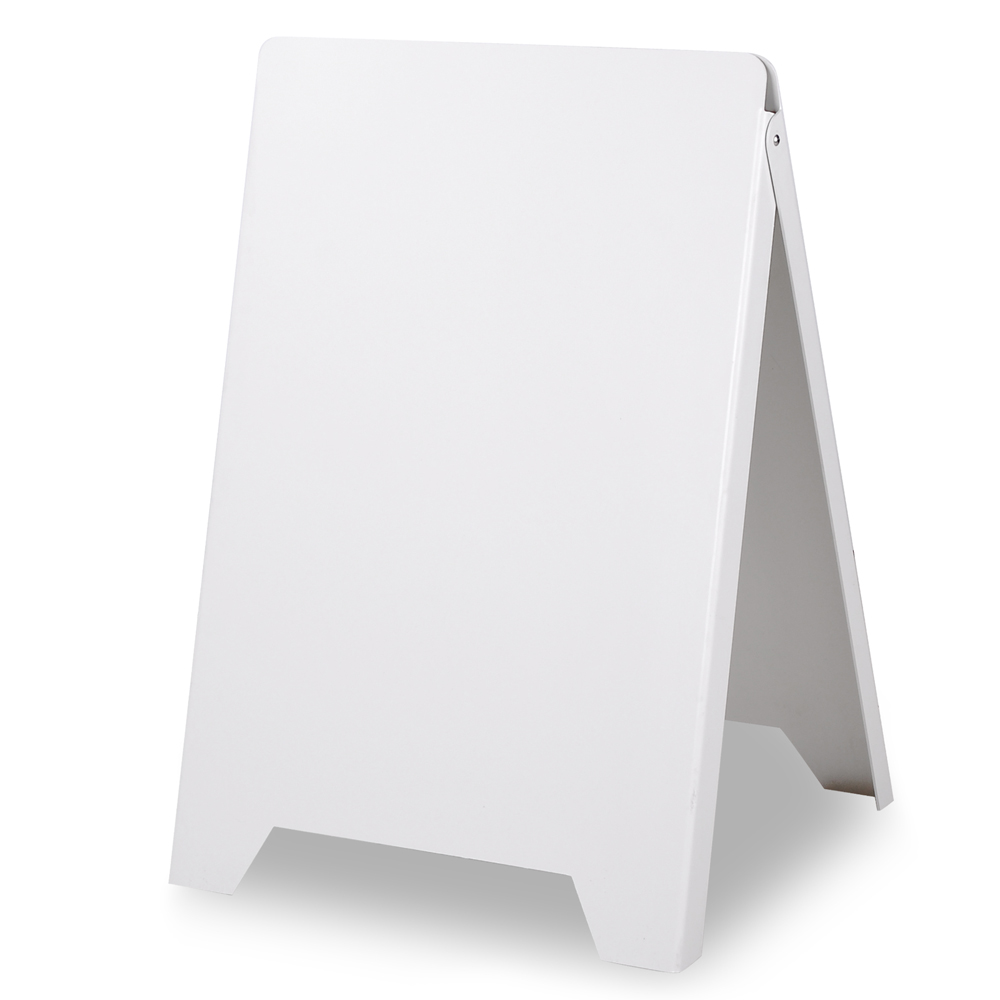 Double Side Sidewalk A Frame Sign Sandwich Board PVC White Holds 19 11 16x32 16graphic Plastic Panels