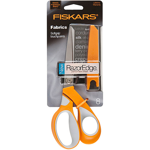 Fiskars RazorEdge Softgrip Fabric Scissor, 8""