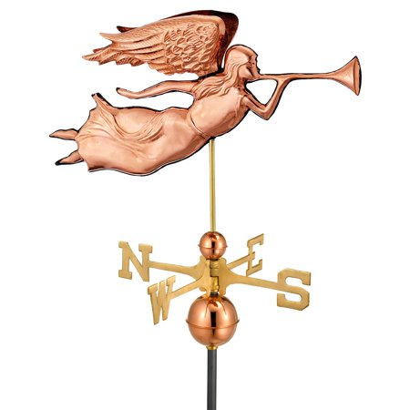 Good Directions Angel Weathervane, Pure Copper - 27