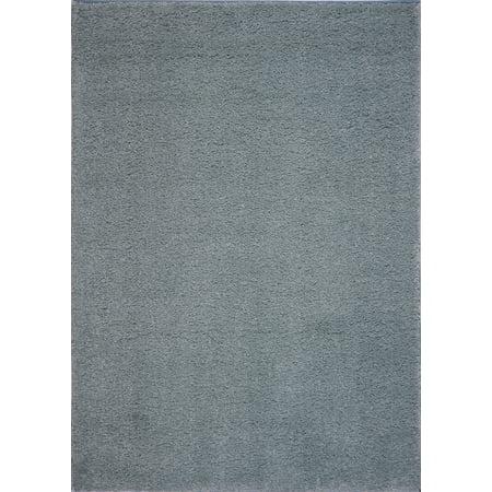 Ladole Rugs Soft Plush Solid Area Rug Aqua Green 5x8 5 3