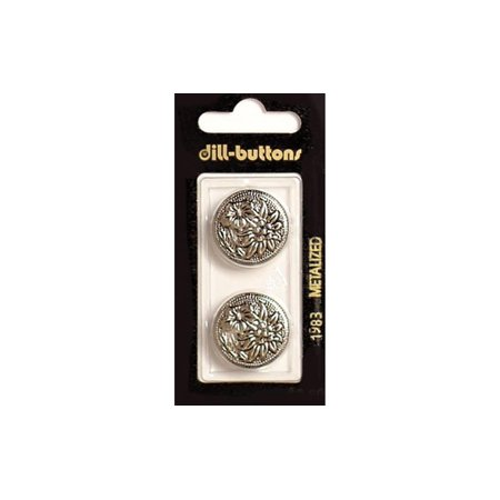 Antique Blazer Buttons (Dill Buttons 23mm 2pc Shank Antique Silver )