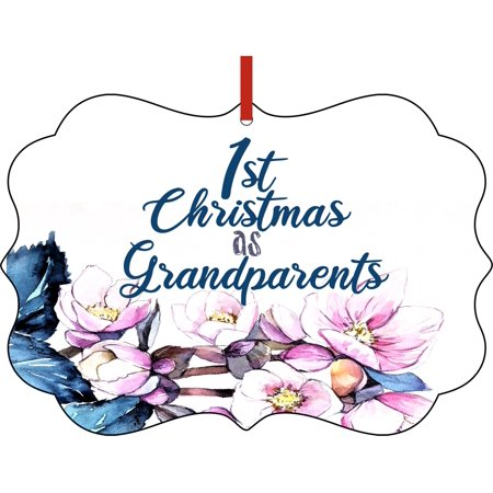 First Year as Grandparents Christmas Ornament - 1st Time Grandparents Christmas Ornament Christmas Décor Hanging Christmas Ornaments Unique Modern Novelty Tree Décor Favors ()