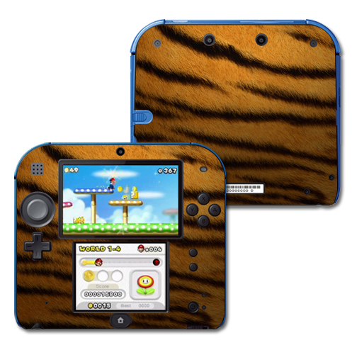 Mightyskins Protective Vinyl Skin Decal Cover for Nintendo 2DS wrap sticker skins Tiger