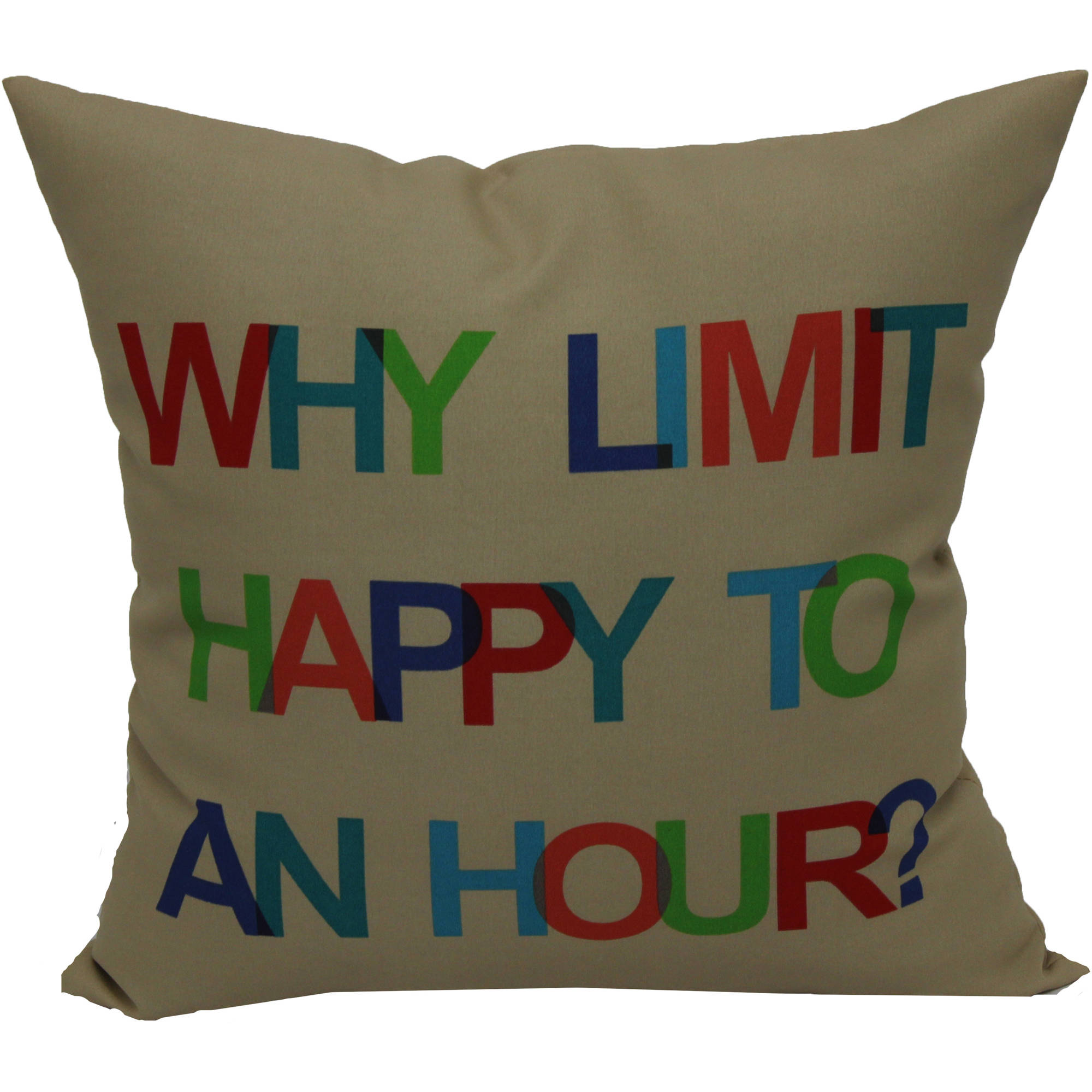 "Mainstays 16"" Words Outdoor Pillow"