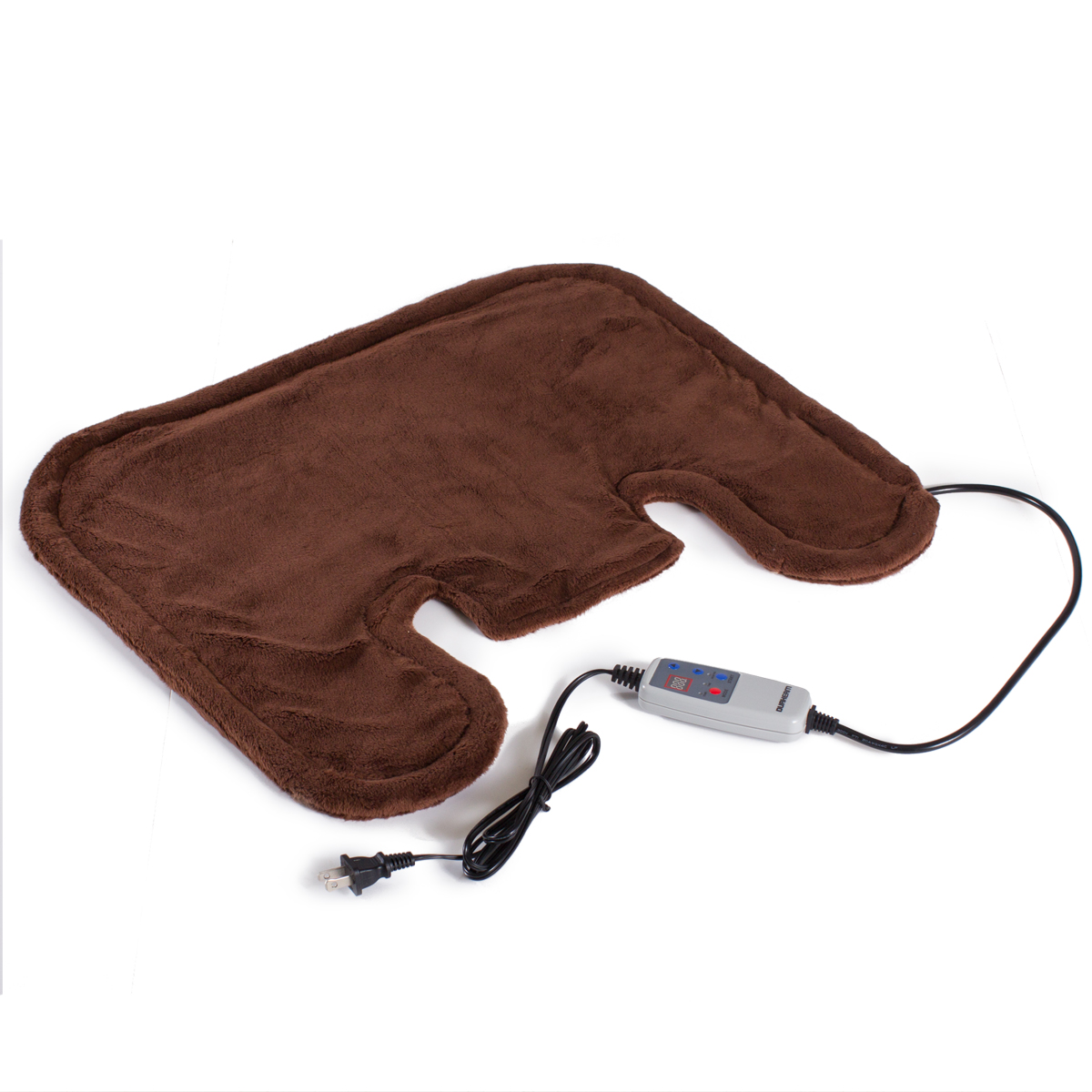 Durherm DISP-404 Far Infrared FIR Shoulder Neck Wrap Heating Therapy Pad - Brown