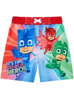 Toddler Boys Red PJ Masks Its Time To Be A Hero Swim Trunks Board Shorts