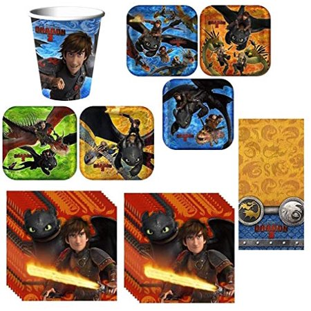 How to Train Your Dragon 2 Deluxe Party Pack Including Plates, Cups, Napkins and Tablecover](Party Plates And Cups)