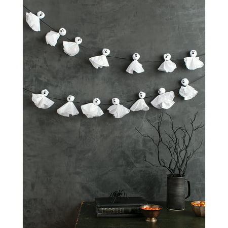 Ghost Garland-Spooky Night - Martha Stewart Halloween Party