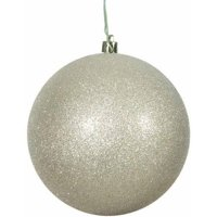 "8"" Champagne Glitter Ball Ornament"