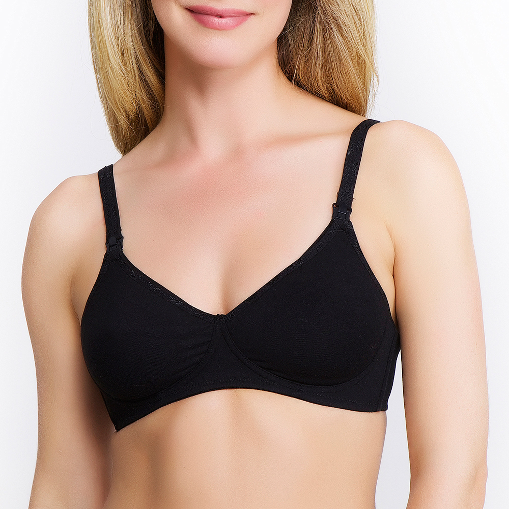 Q-T Intimates Maternity Full-Figure Essential Wire-free Nursing Bra--Up to Size 40G