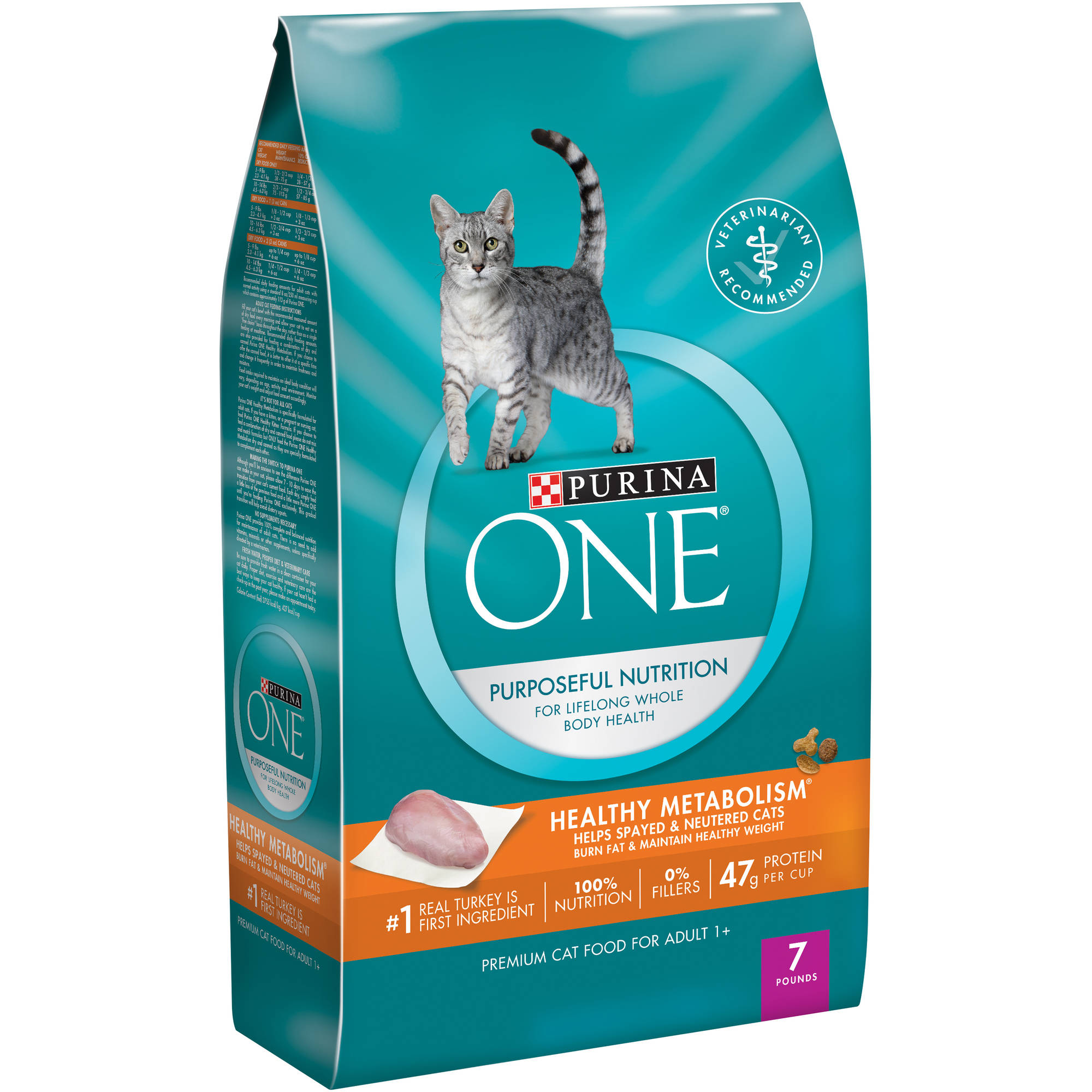 Purina ONE Healthy Metabolism Adult Premium Cat Food 7 lb. Bag