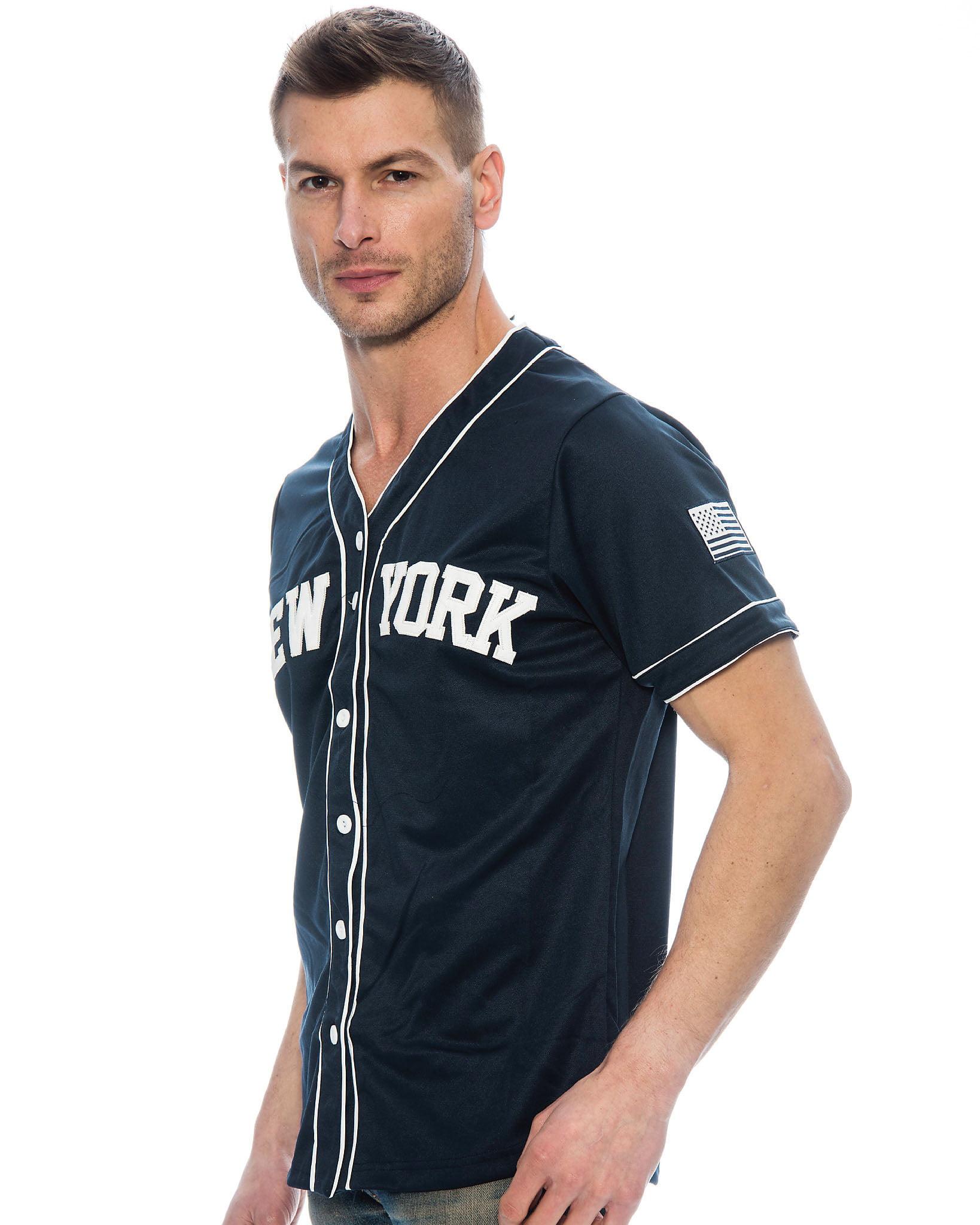 the latest 37140 0c626 True Rock Men's New York Baseball Jersey - Walmart.com