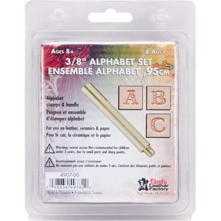 Music Stamp Series - Leather Factory Easy-To-Do Series Stamp Set, Fancy Alphabet 3/8