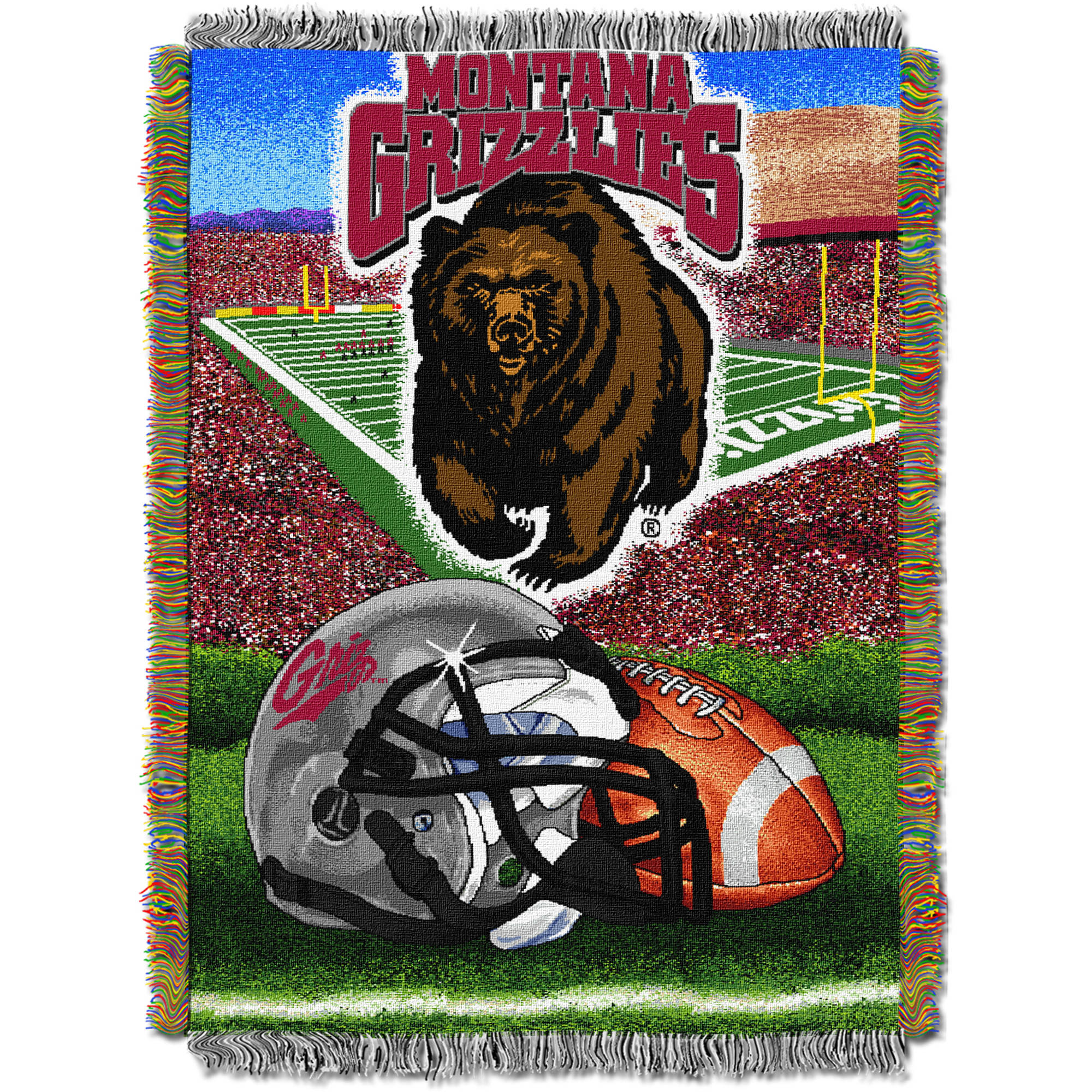 "NCAA 48"" x 60"" Tapestry Throw Home Field Advantage Series- Montana"