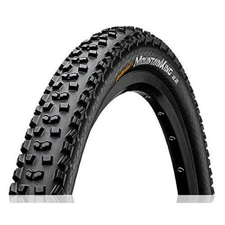 Continental Mountain King II Wire Bead Mountain Bike Tire Black 26 x (Continental Mountain King 26 X 2-2 Review)