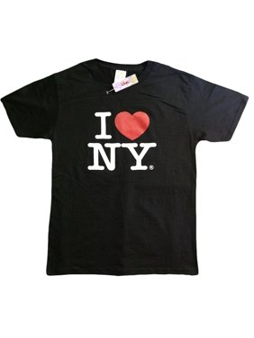 I Love NY New York Baby Infant Short Sleeve Screen Print Heart T-Shirt Black ...
