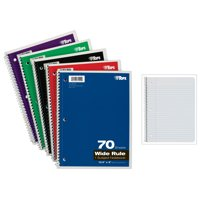 (2 Pack) TOPS BUSINESS FORMS Wirebound 1-Subject Notebook, Wide Rule, 70 Sheets/Pad