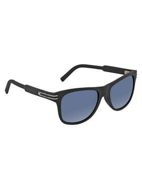 Montblanc Rectangular Sunglasses MB641S-H 02V Matte Black/Gunmetal 56mm 641