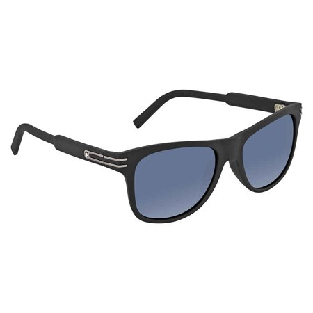 Montblanc Rectangular Sunglasses MB641S-H 02V Matte Black/Gunmetal 56mm (Brand Names Of Clothing That Start With G)