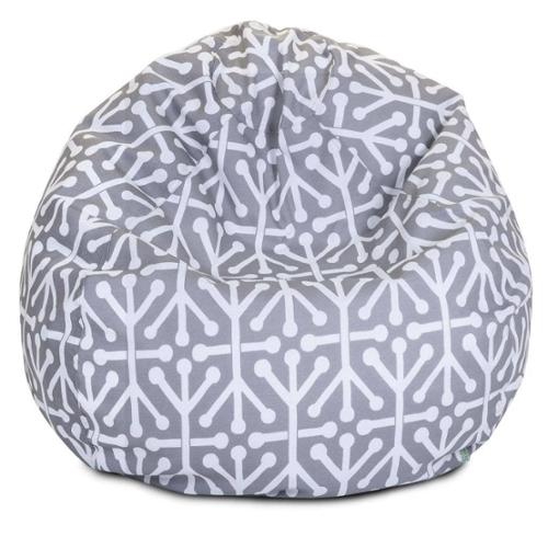 Majestic Home Goods Aruba Small Classic Bean Bag Grey