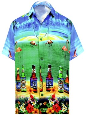 0303d2a2 Product Image Hawaiian Shirt Mens Beach Aloha Camp Party Casual Holiday  Tropical Shirt Beer Bottle 3D HD Print