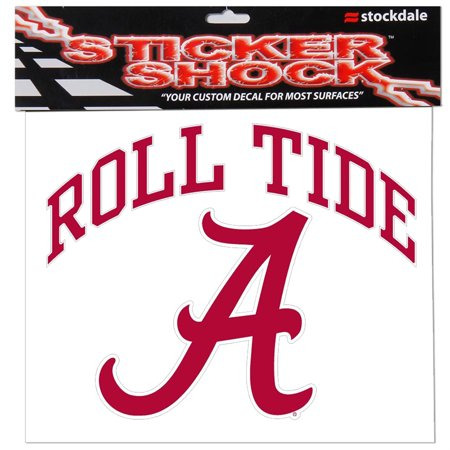 "Alabama Crimson Tide 12"" x 12"" Arched Logo Decal - No Size"