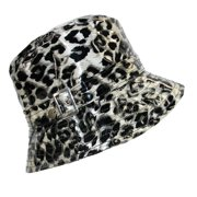 Karen Kane  Women's Waterproof Leopard Animal Print Rain Bucket Hat