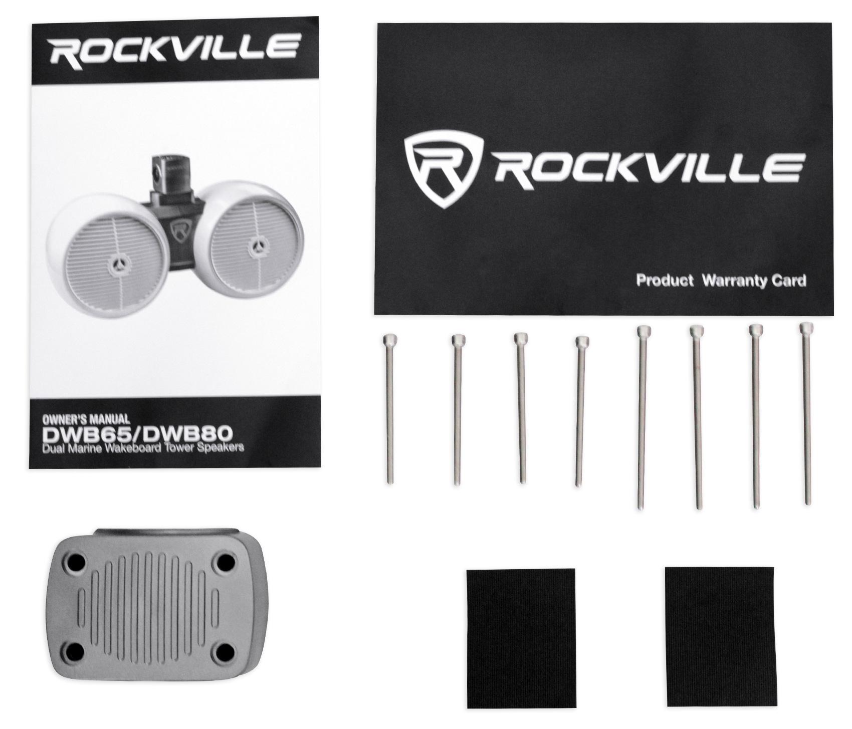 "Rockville DWB65W Dual 6.5/"" 600w Tower Speaker For Polaris RZR//Jeep//ATV//UTV//Cart"
