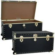 "Mercury Luggage Seward Trunk Wheeled Storage Footlocker, 31"" Classic"