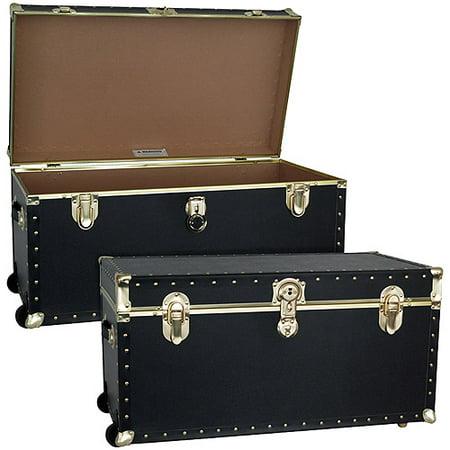 Seward Trunk Trailblazer Footlocker With Wheels 35 Gal Wood Storage Box Handles