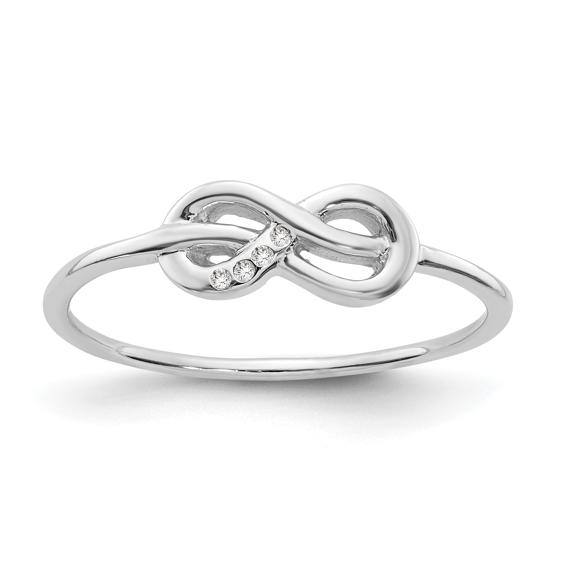 925 Sterling Silver Infinity Diamond Band Ring Size 8.00 Fine Jewelry Gifts For Women For Her - image 6 of 6